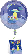 "18"" Decorate Own Balloon Outerspace with Weight"
