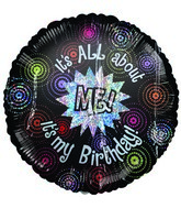 "18"" All About Me Birthday  Holographic Balloon"