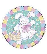"18"" Happy Easter Bunny Mylar Balloon"