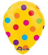 "18"" Yellow Polka Dot Perfect Balloon"