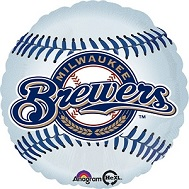 "18"" MLB Milwaukee Brewers Baseball Balloon"