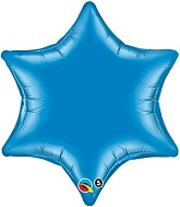"22"" Qualatex 6-Point Star Foil Mylar Balloon Sapphire Blue"