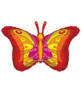 "36"" Red Butterfly Shape Clear View"