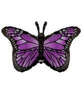 "38"" Purple Butterfly Shape"