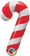 "14"" Airfill Only Candy Cane Balloon"