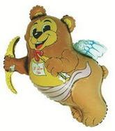 "26""ILY Bear-Cupid Mylar Balloon (PRINT DAMAGE)"