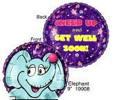 "9"" Airfill Only Lil&#39 Fuzzies Elephant balloon (No Fuzzy)"