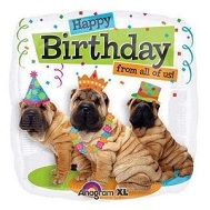"18"" Birthday From All Party Dogs Mylar Balloons"