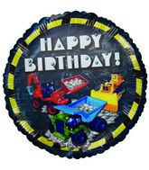 "18"" Happy Birthday Construction theme Blue Balloon"