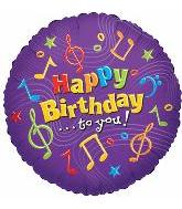 "18"" Happy Birthday to you Music Notes"