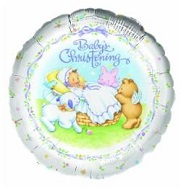 "18"" Heavenly Moments Christening Mylar Balloon"