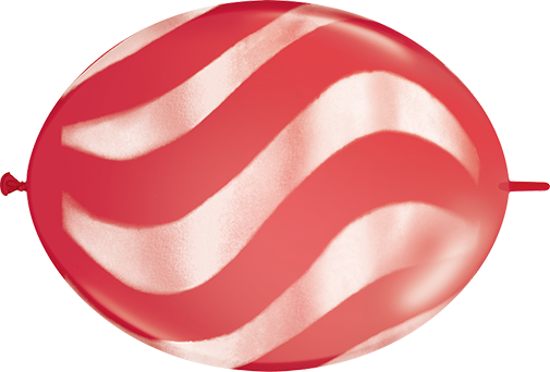 12 Quicklink Red 50 Count Wavy Stripes White Bargain Balloons