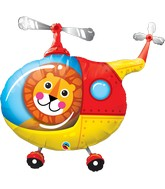 "35"" Shape Packaged Lion Helicopter Pilot"