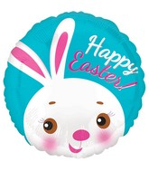 "18"" Happy Easter Cute Bunny Balloon"