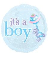 "18"" It&#39s A Boy Blue Icons Balloon"