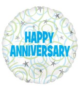 "18"" Happy Anniversary Swirls Balloon"