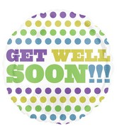 "18"" Retro Tone Get Well Soon Balloon"