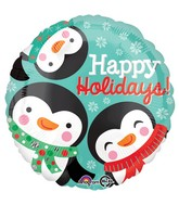 "18"" Happy Holiday Penguins Balloon"