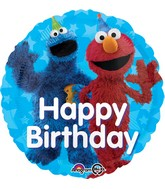 "18"" Sesame Street Fun Happy Birthday Balloon"