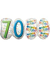 "25"" Rainbow Birthday 70 Balloon"