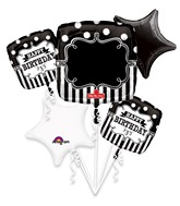 Bouquet Chalkboard Birthday Party Balloon