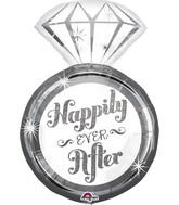 "27"" Happily Ever After Ring Balloon"