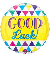 "21"" Good Luck Graphic Triangles Balloon"