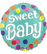 "18"" Sweet Baby Dots Balloon"