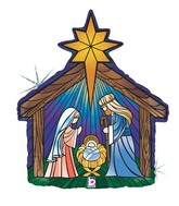 "27"" Holographic Shape Nativity"
