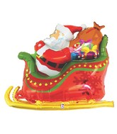 "46"" Multi-Sided Foil Shape Super Dimensional™Santa Sleigh"