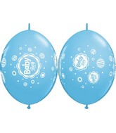 "12"" Quicklink Pale Blue 50 Count Baby Boy Dots"