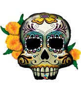 "38"" Shape Day Of The Dead Skull"