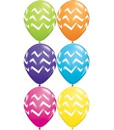 "11"" Tropical Assorted 50 Count Chevron Stripes"