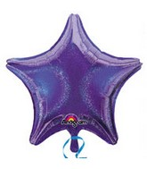 "32"" Jumbo Holographic Star Purple Dazzler Star Balloon"