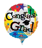 "9"" Aifill Only Congrats Grad Stars Balloon"