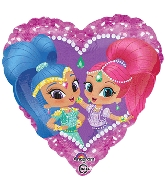 "18"" Shimmer and Shine Heart Balloon"