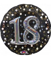 Multi Balloon Sparkling Birthday 18 Foil