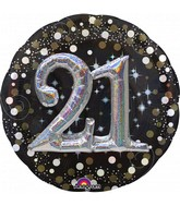 Multi Balloon Sparkling Birthday 21 Foil Balloon