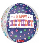 "16"" Orbz Jumbo Cakes HBD to You Foil Balloon"