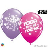 "11"" Assorted Wild Berry/Spring Lilac Balloons Yoda"