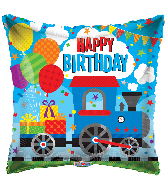 "18"" Birthday Choo Choo Square Foil Balloon"