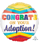 "18"" Congratulations On Your Adoption Balloon"