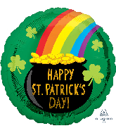 "18"" St. Patrick&#39s Pot of Gold Foil Balloon"