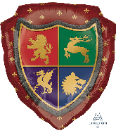 "27"" Medieval Shield SuperShape™ Foil Balloon"
