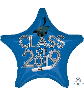 "18"" Class of 2019 - Blue Foil Balloon"