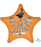 "18"" Class of 2019 - Orange Foil Balloon"