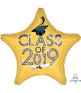 "18"" Class of 2019 - Gold Foil Balloon"
