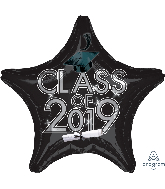 "18"" Class of 2019 - Black Foil Balloon"
