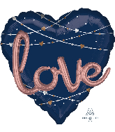 "36"" Multi Balloons Navy Love Balloons"