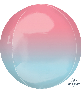 "16"" Foil Balloon Ombre Orbz  Red and Blue"